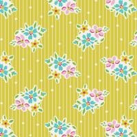 Tilda Apple Butter Nancy Yellow - Per Half Metre
