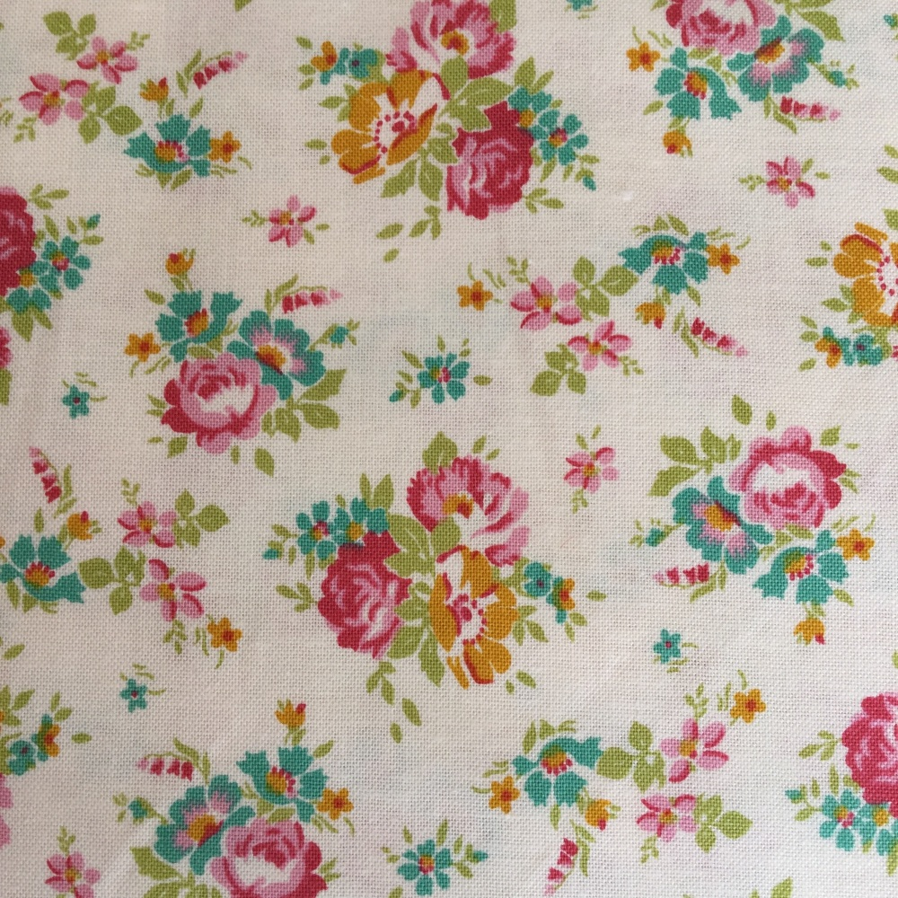 Tilda Apple Butter Sue Dove White - Per Half Metre