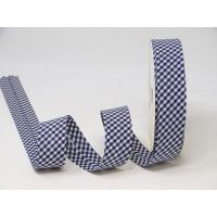 Bias Binding - Navy & White Gingham 30mm