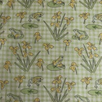 Debbie Shore Lily Pad Collection - Frogs on Green Gingham