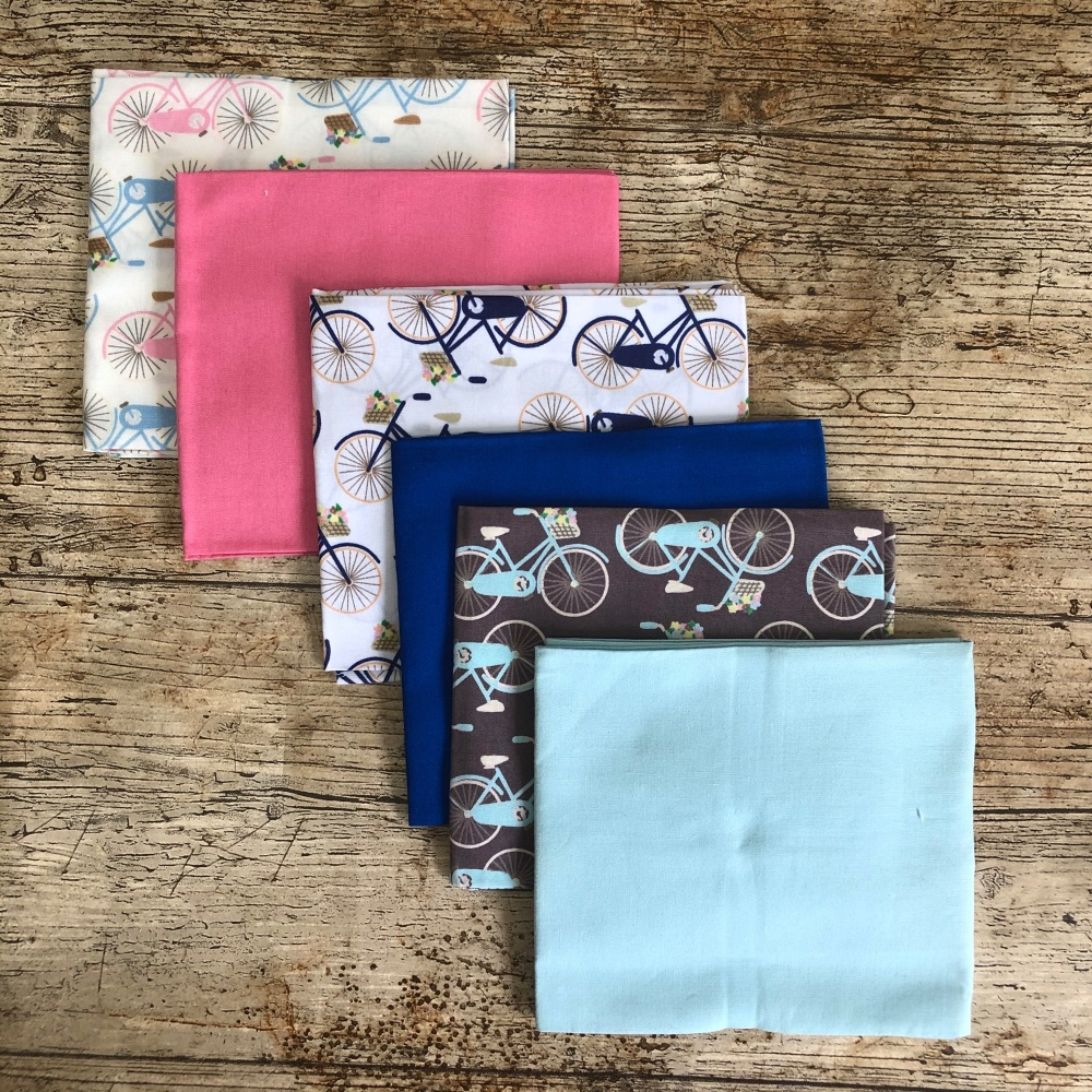 Bicycles fat quarter bundle by Fabric Freedom