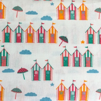 Beach Huts Summer by Craft Cotton Co
