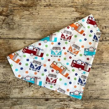 Dog Bandana  Campervans/Camping  - Slide on - Reversible