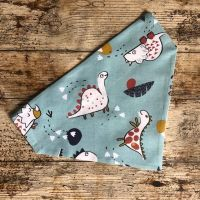 Dog Bandana Dino Dinosaur - Slide on - Reversible