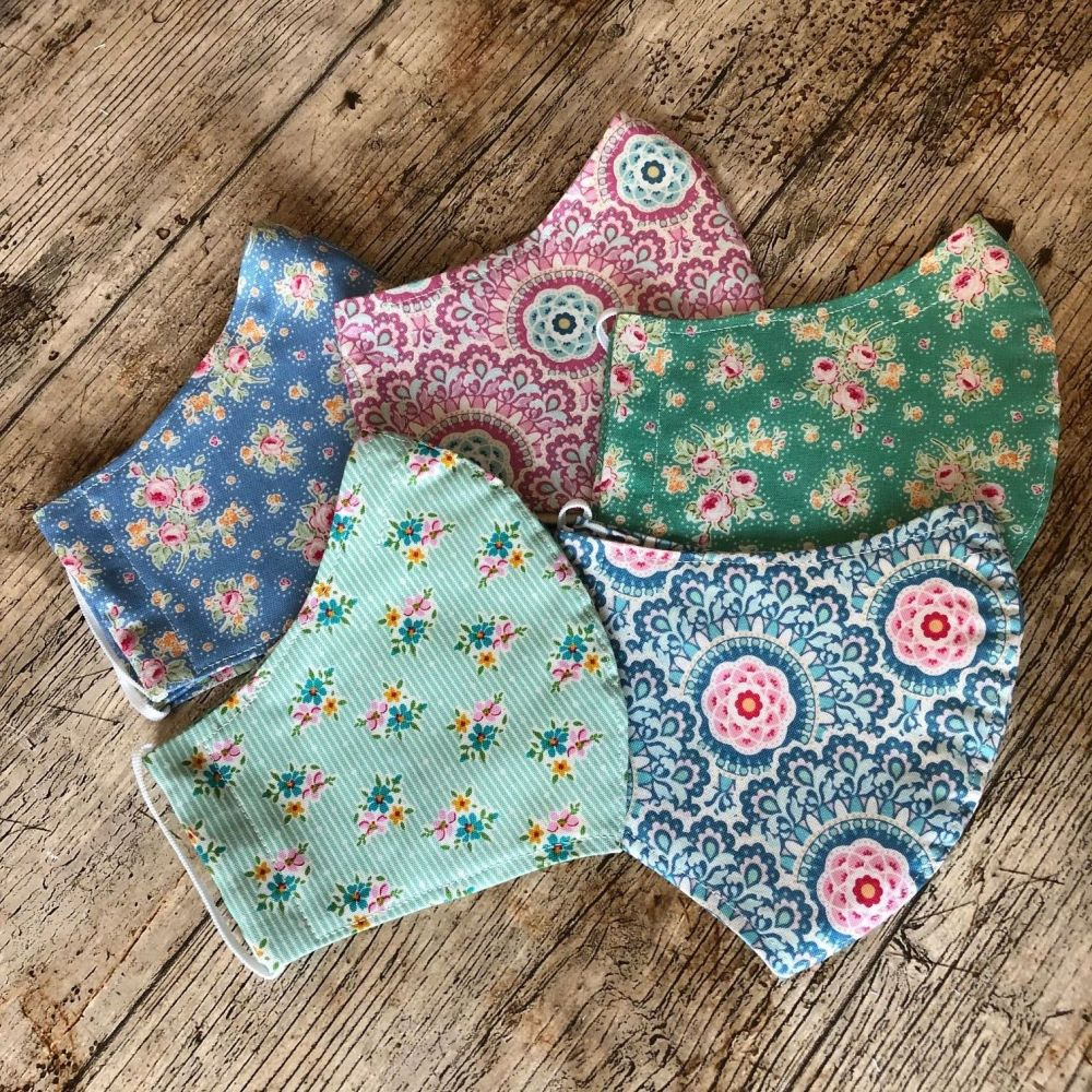 Tilda Fabric Face Masks - Free Postage