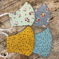Face Masks - Free Postage - Vintage floral and Coloured drops