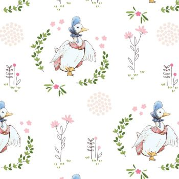 Beatrix Potter Jemima Puddleduck on White - Free delivery