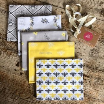Bee Happy -  Fat Quarter Bundle - 5 pieces