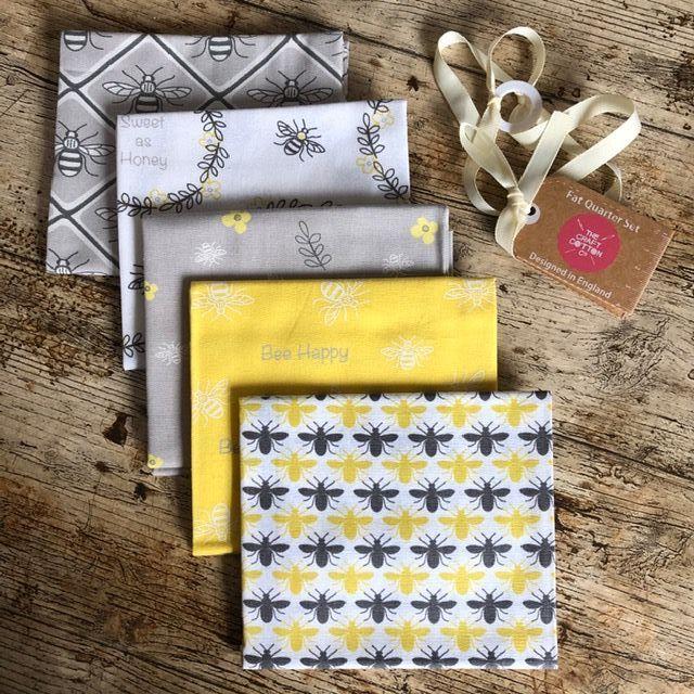 Bee Happy -  Fat Quarter Bundle - 5 pieces