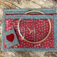 Vinyl Fronted Project Bag  Makower for your Cross Stitch, Embroidery etc  & Matching Needle Case