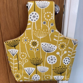 Over the Arm Knitting/Crochet Bag - Yellow Scandi Design