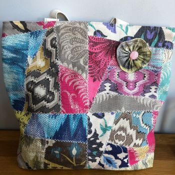 Totally Unique Crazy Patchwork Tote Bag
