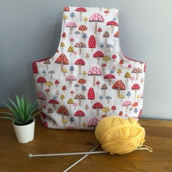 Cath Kidston Mini Mushrooms - Over the arm Knitting or Crochet Project Bag