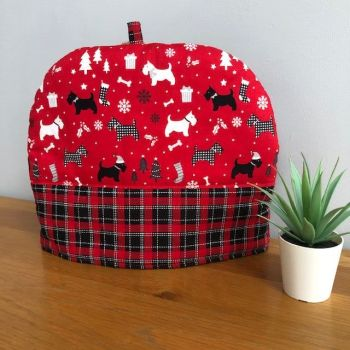 Scotty Dog Christmas Tea Cosy