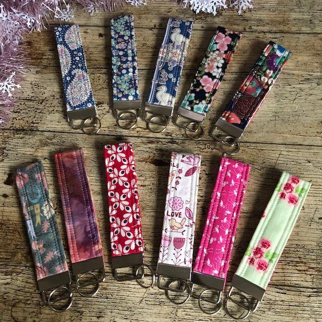 Key Ring Wristlet - Cotton Fabric Designs