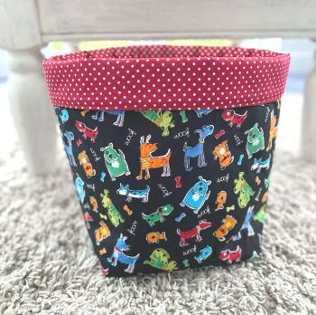 Storage basket  dog design -  Woof Fabric