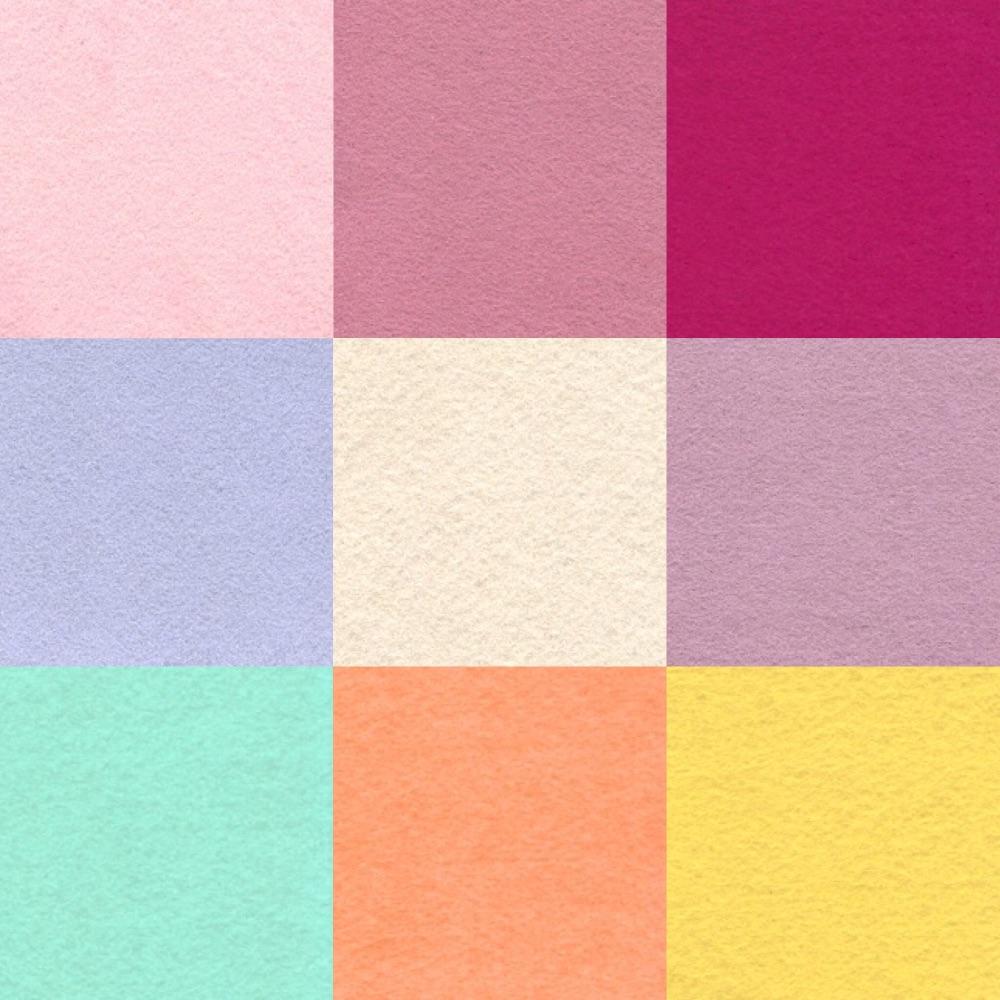 Wool & Rayon mixed felt