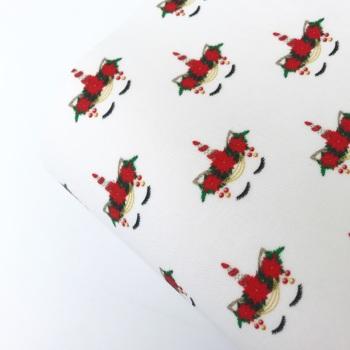 Sleepy Unicorn Christmas Felt Fabric