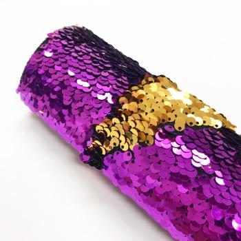 Purple/Gold Reversible Sequins