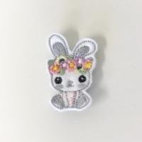 Floral Bunny Feltie