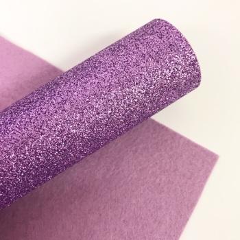 Lavender ~ Glitter Felt