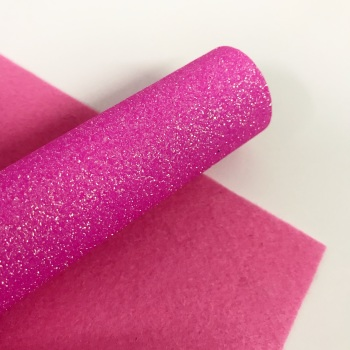 Holographic Pink ~ Glitter Felt