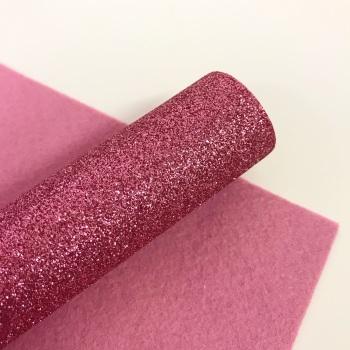 Pink ~ Glitter Felt