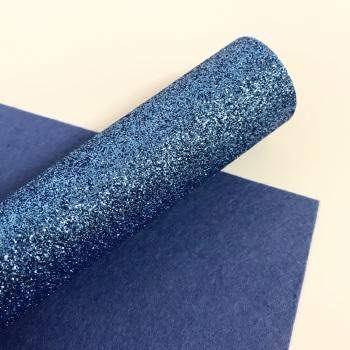 Light Denim Blue ~ Glitter Felt