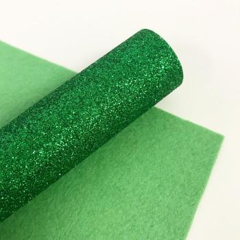 Emerald Green ~ Glitter Felt