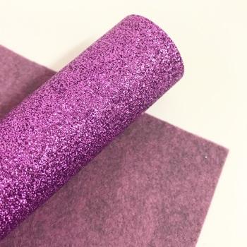 Purple ~ Glitter Felt