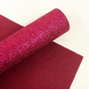 Raspberry ~ Glitter Felt