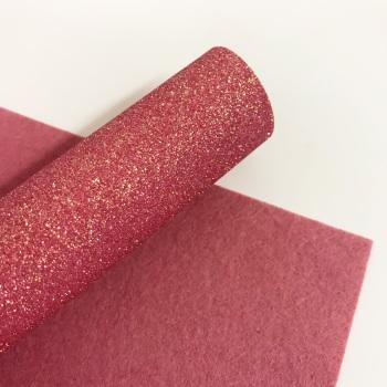 Coral ~ Glitter felt