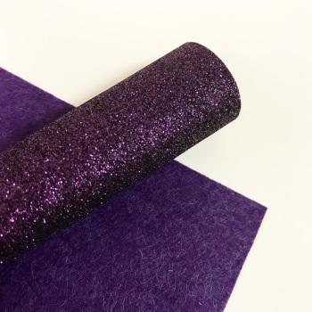 Dark Purple ~ Glitter Felt