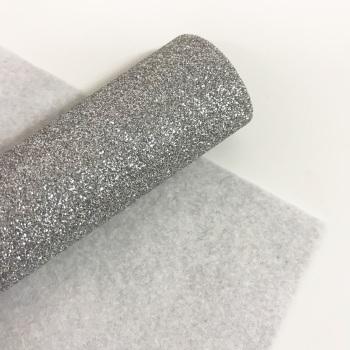 Silver ~ Glitter Felt