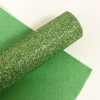 Apple Green ~ Glitter felt