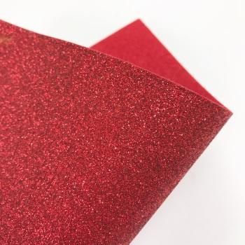 Red Glitter Felt