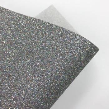 Gunmetal Glitter Felt
