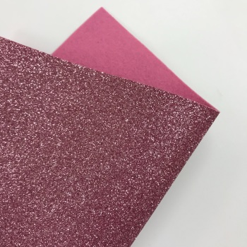 Dusky Pink Glitter Felt