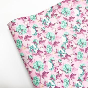 Mint on Pink Garden