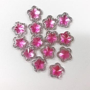 Mini Light Pink Star Gems - 5 pack