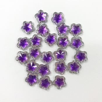 Mini Purple Star Gems - packs of 5