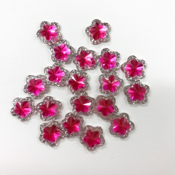 Mini Hot Pink Star Gems - 5 pack