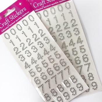 Self Adhesive Gems - Numbers