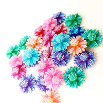 Mini Iridescent Flowers