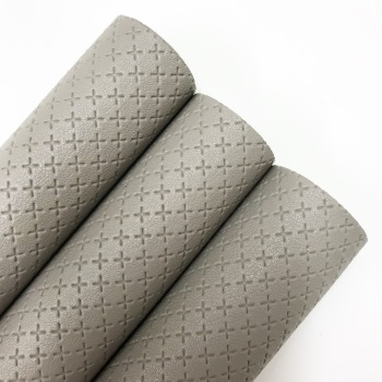 Grey ~ Quilted Leatherette