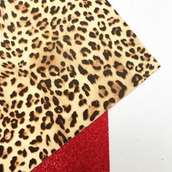 Leopard Print on Fine Red