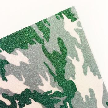 Grey-Green Camo ~ Fine Glitter