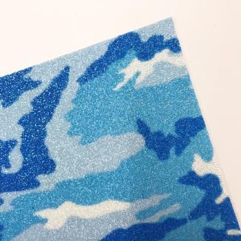 Blue Camo ~ Chunky Glitter