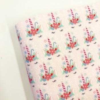Sleepy Unicorn Christmas (pink) ~ FBF