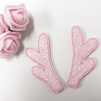 Pink Glitter Antlers ~ Felties